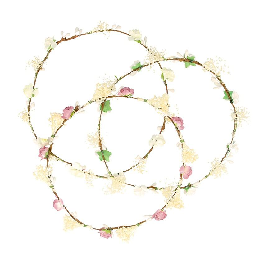 Bande simple pour cheveux avec fleurs et gysophile