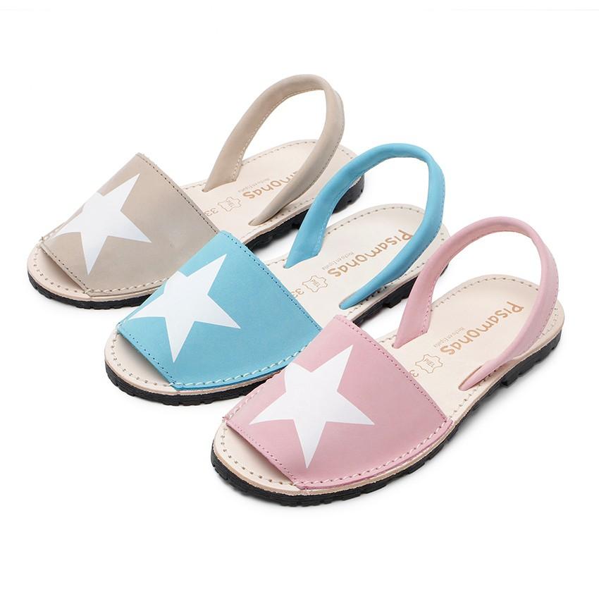 Sandales Avarcas Nubuck avec étoile