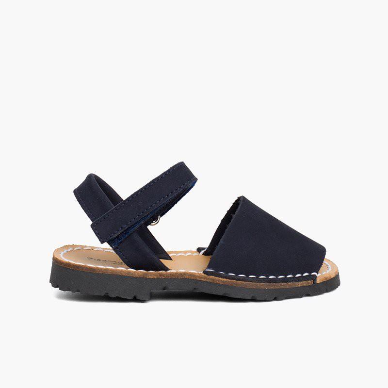 Sandales Avarcas Nubuck avec Velcro pour Enfant