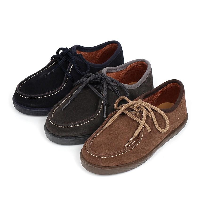 Chaussures bateau en suède Garçon et Adulte
