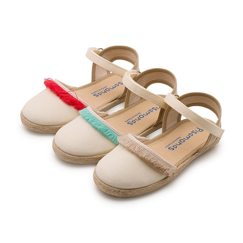 Sandales à Franges Style Valenciennes, Fermeture à scratch