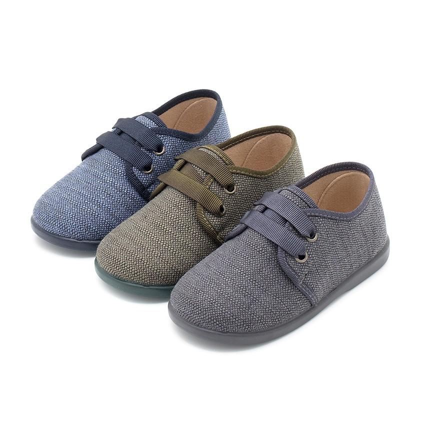 Chaussures en toile façon Derbies pour Garçon