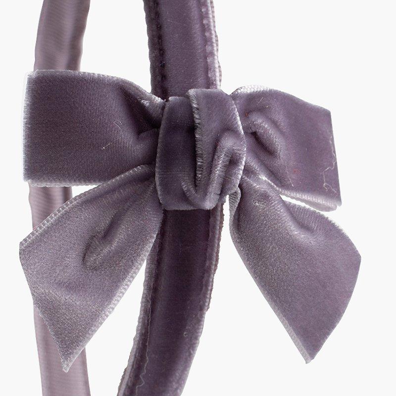 Serre-tête velours avec nœud