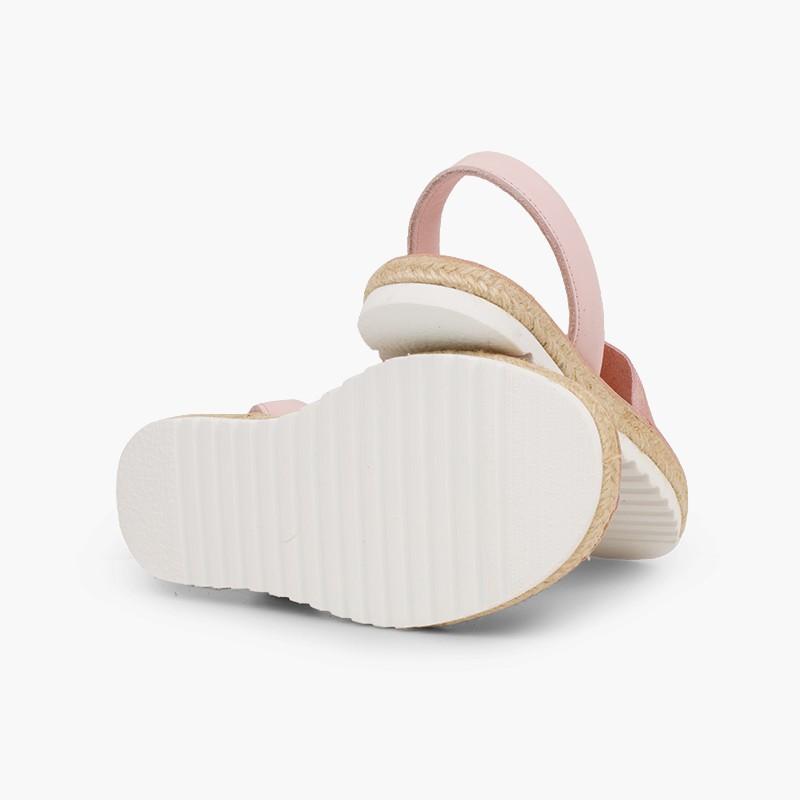Sandales avarcas pour fille et femme suède brillant
