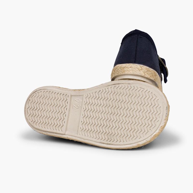 Chaussures babies boucle bamara et jute