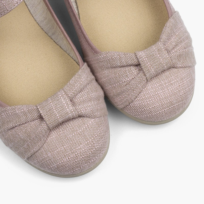 Chaussures babies cérémonie fille nœud fermeture à boucle