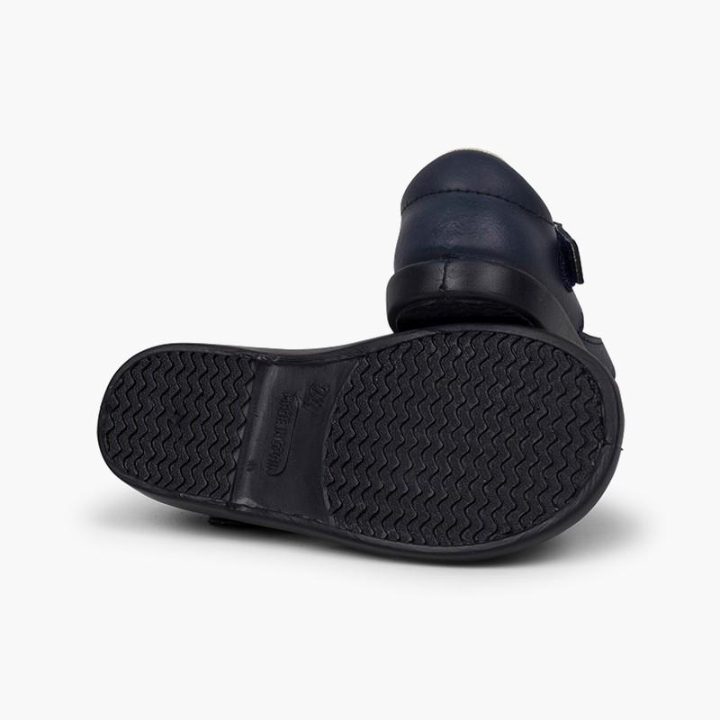Sandales garçon cuir velcro type chaussures salomé