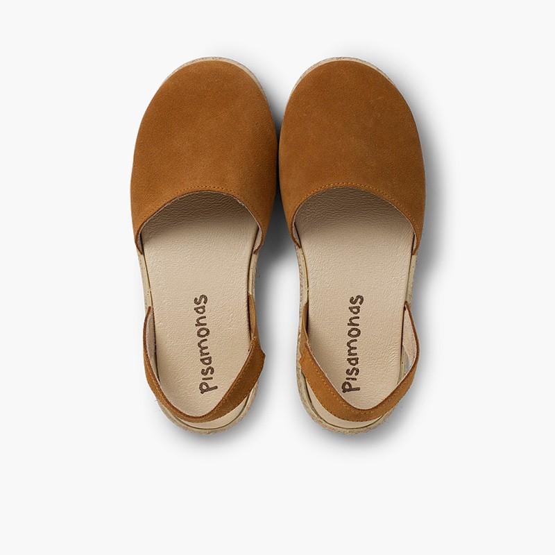 Sandales fermées fille et femme suède