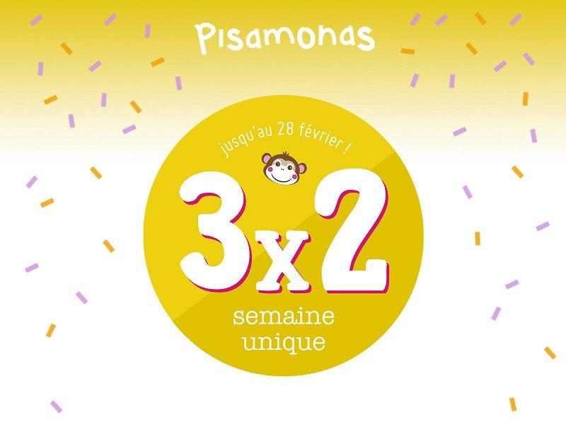 L'offre Pisamonas3x2 est de retour