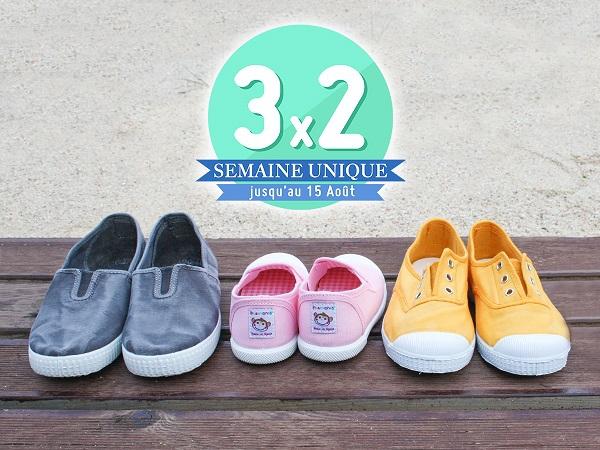 3x2 Chaussures pour Enfant Pisamonas