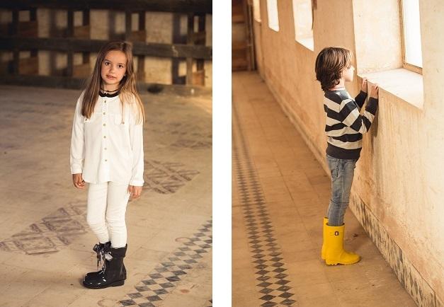 Bottes de pluie pour enfant en boucle