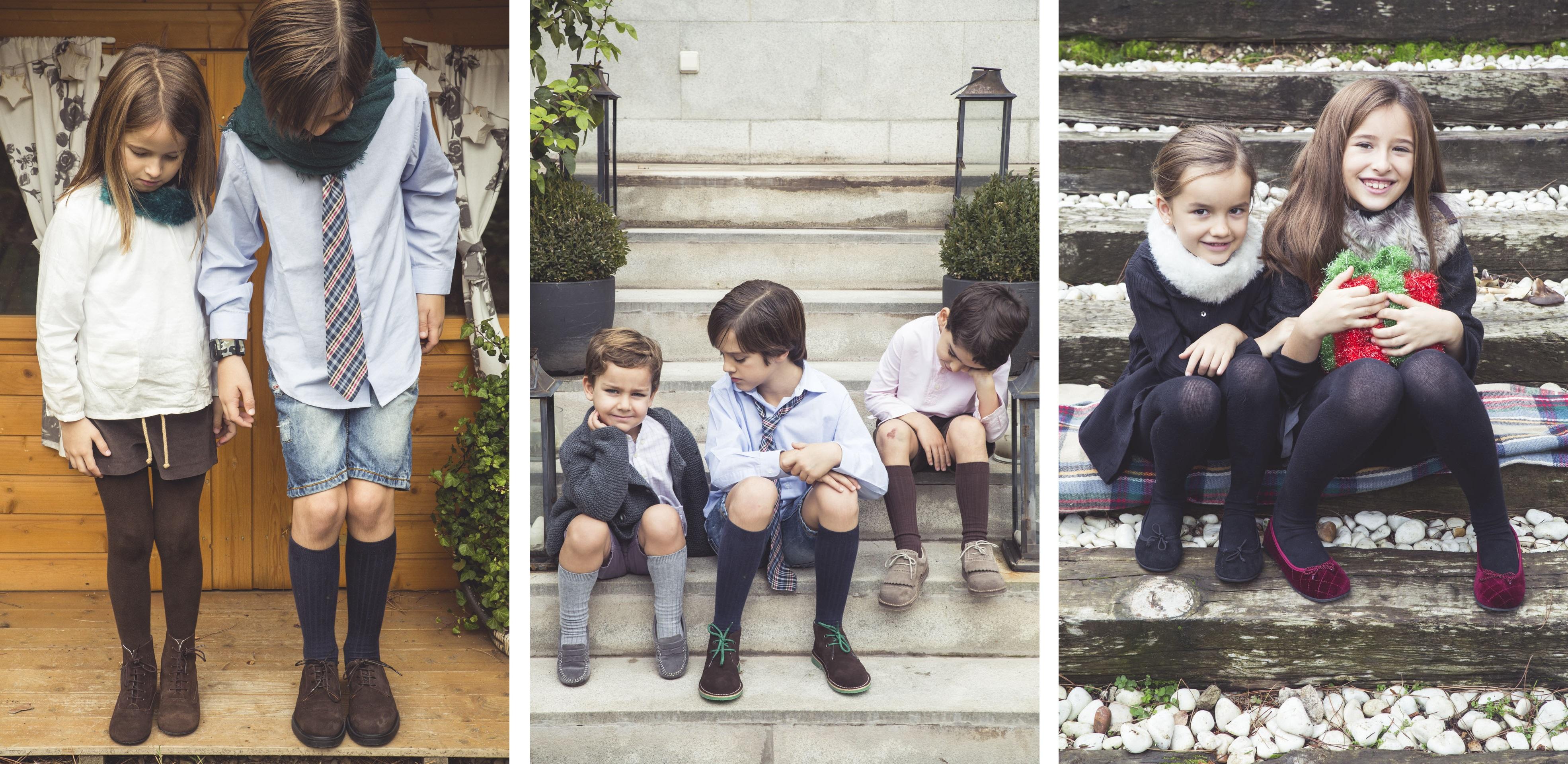 Pour noël, vos enfants avec des chaussures Pisamonas !