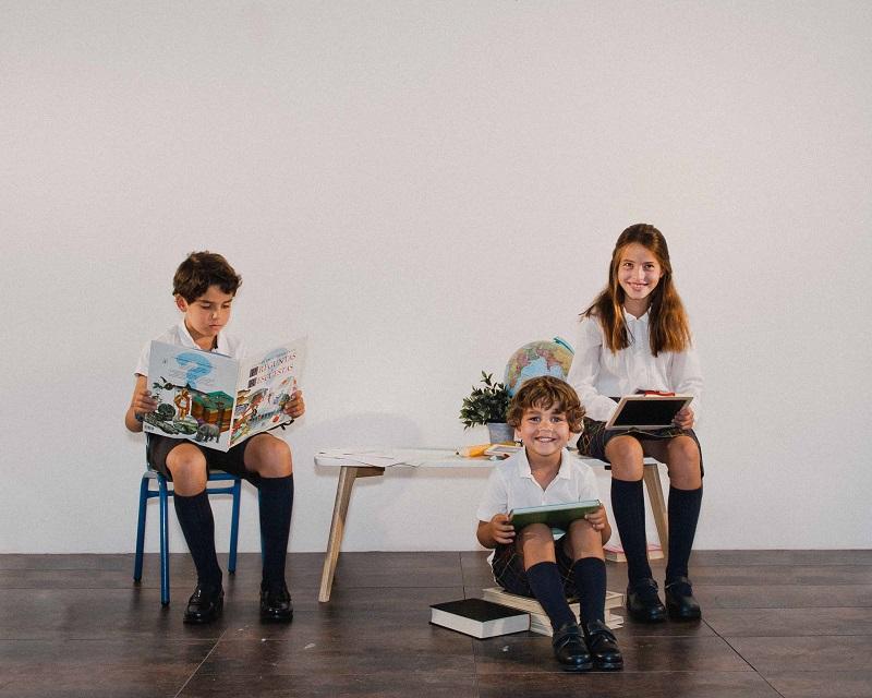 Pisamonas Chaussures scolaires enfant pour l'uniforme
