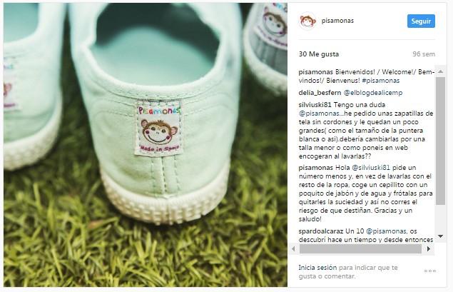 Instagram pisamonas ténis